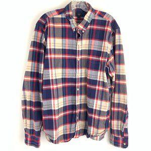 J.Crew Oxford Slim Fit Button Down Plaid Shirt XL